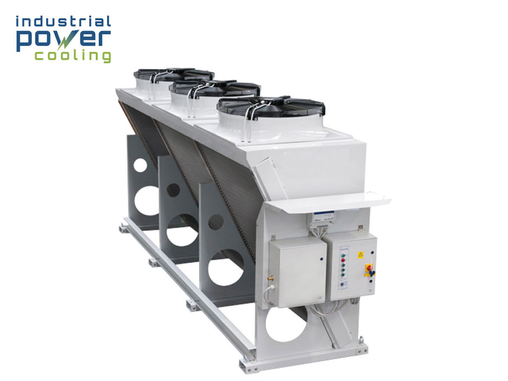 Wall mounted V-coil dry cooler