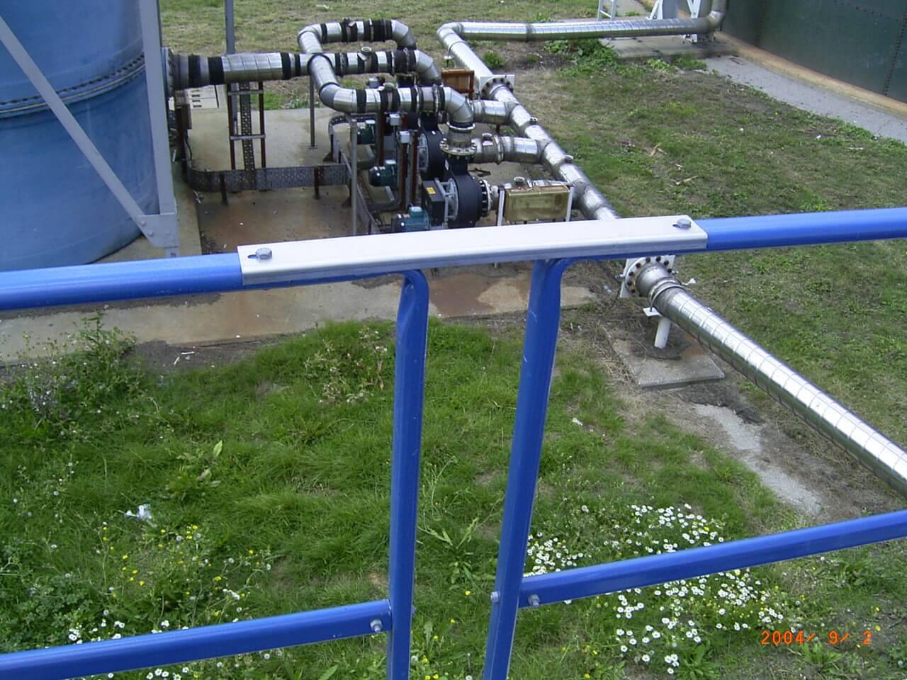 on site sewage treatment works
