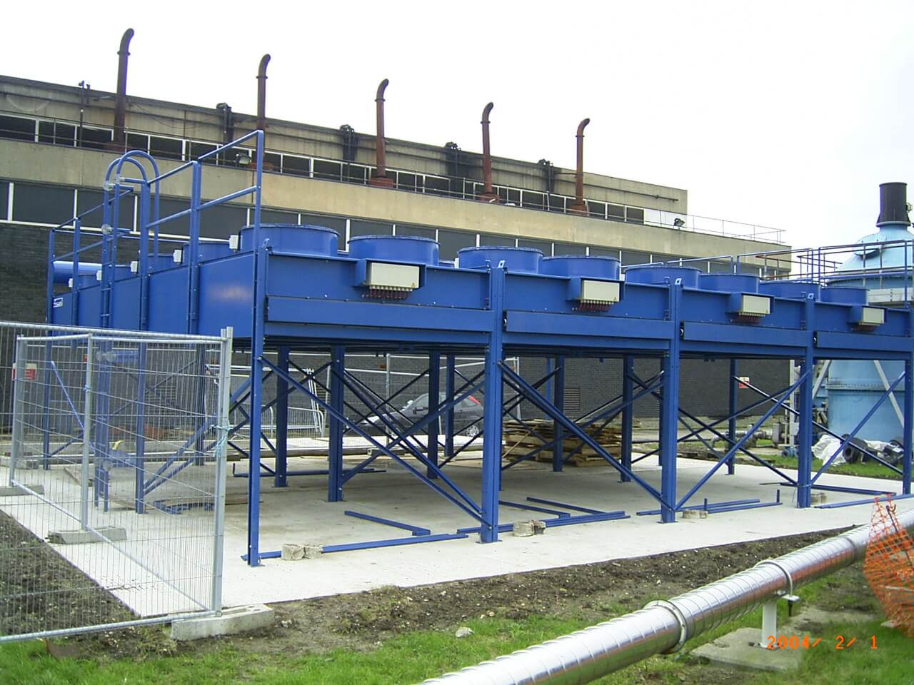 remote cooling radiators for sewage treatment works