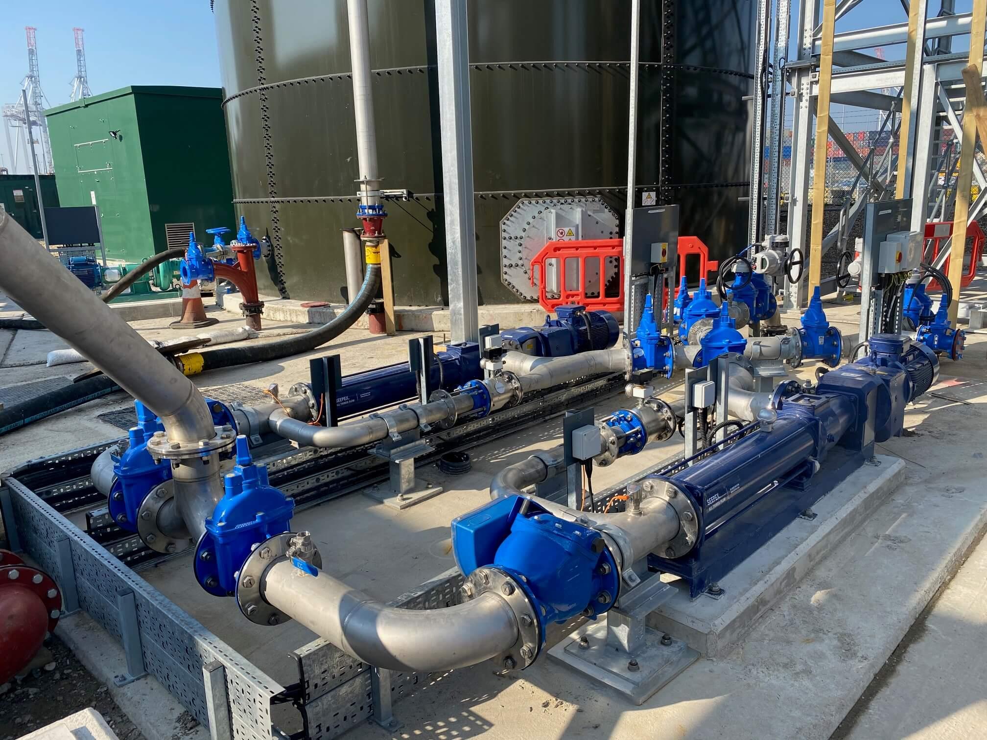 IPC outdoor pipework installation