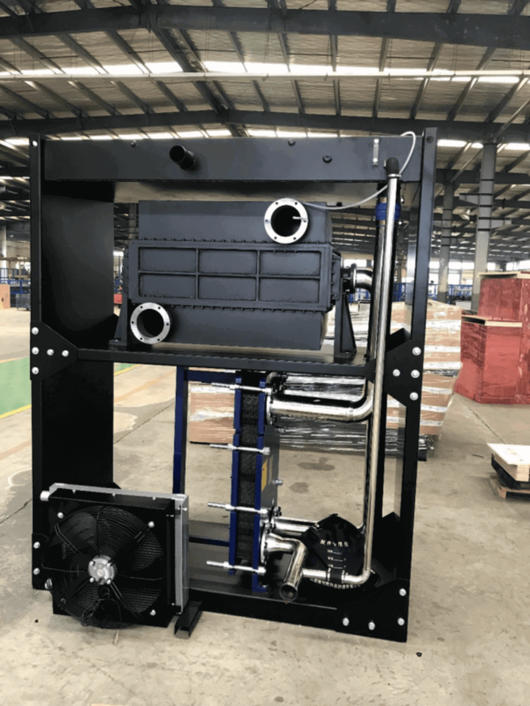 Remote plate heat exchanger cooling skid