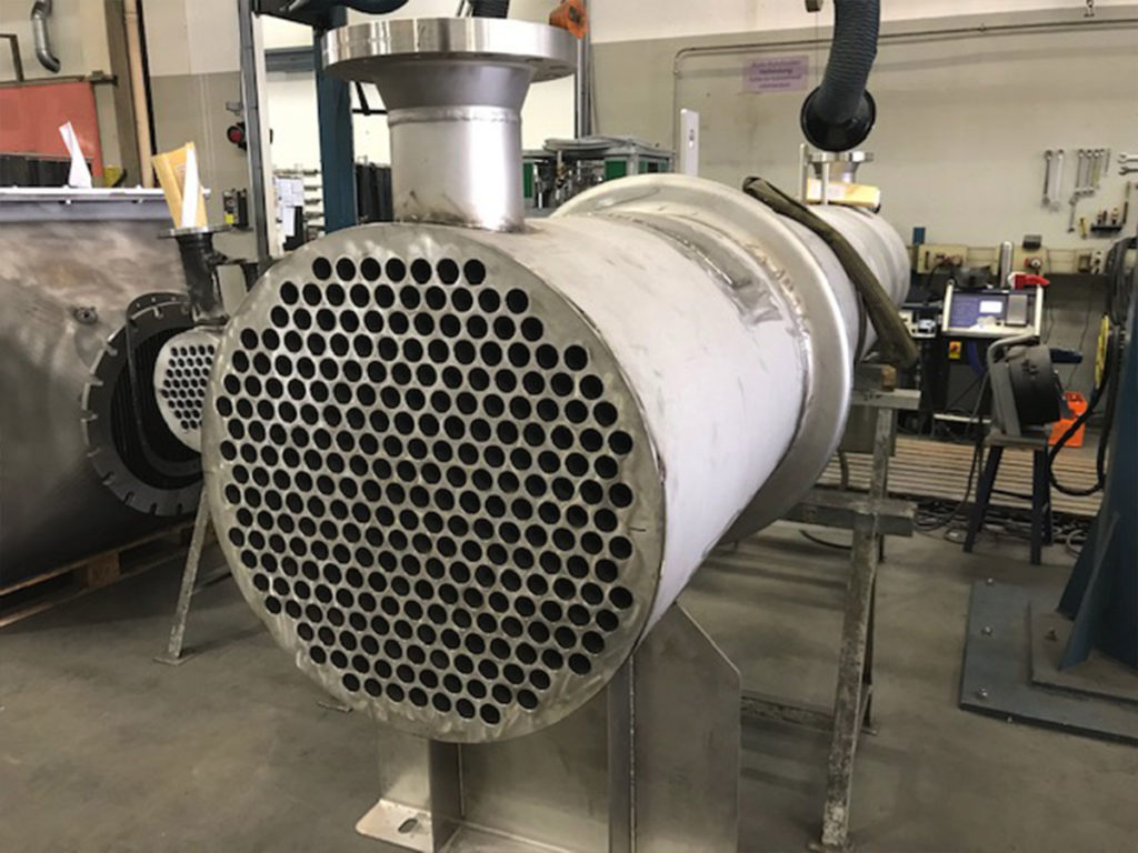 Exhaust gas heat exchangers cleaning and sitework