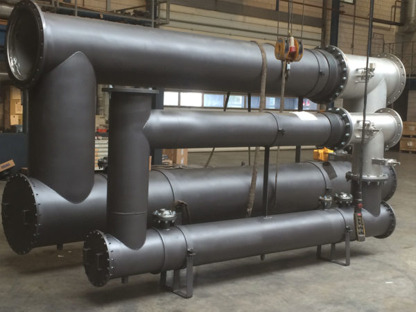 Exhaust gas heat exchangers for CHP applications