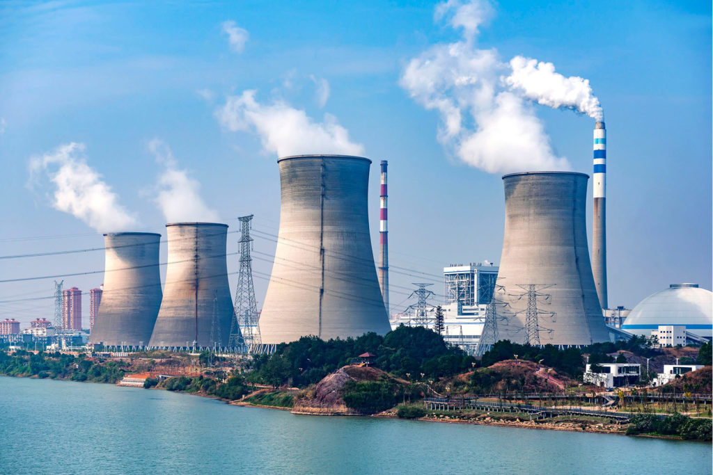 Industrial cooling solutions for gas and diesel power station generators.