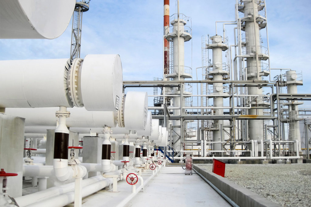 Oil and Gas Heat exchange cooling system in oil refinery