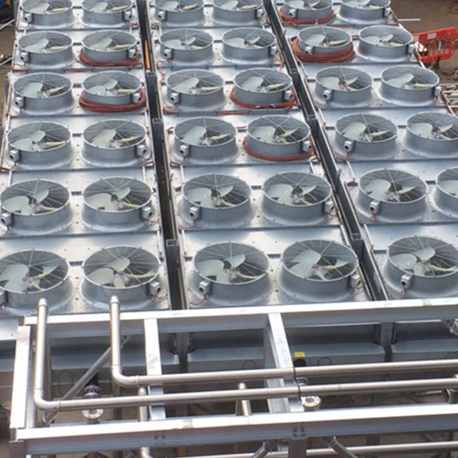 cooling rads on an industrial cooling project
